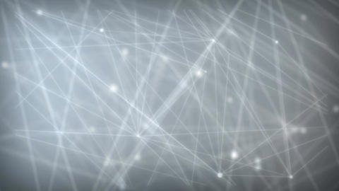 Abstract background dotted and connection line with glow and blur effect for tec Footage
