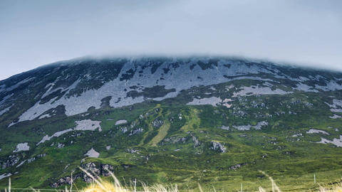 Clouds Covering Mount Errigal, County Donegal, Ireland Image