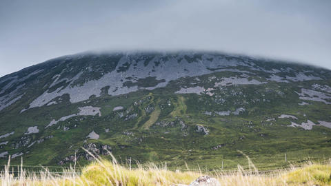 Clouds Covering Mount Errigal, County Donegal, Ireland Footage