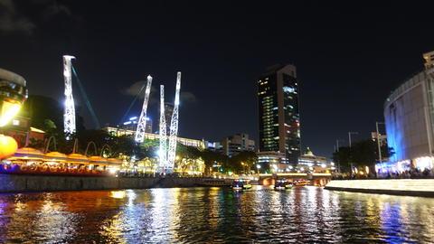Night time cruise in Singapore Photo