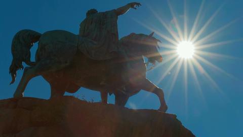 Statue of Richard III in Windsor, England, UK Footage