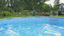 swimming pool on a plot Footage