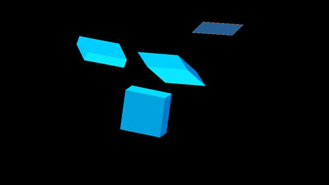 Twirling blue cubes Animation