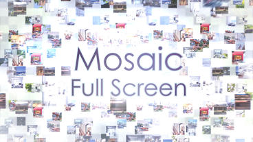 Mosaic Full Screen – After Effects Template After Effects Template