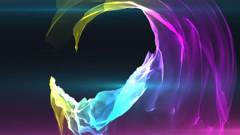 Abstract colorful satin background animation Image