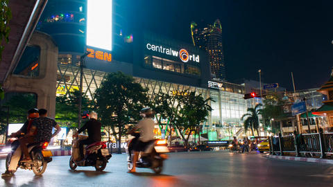 Central world is a large shopping mall in central bangkok Footage