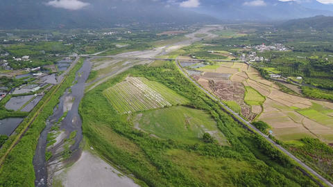 DJI MAVIC 4K Taiwan Aerial Drone Video Hualien Hsiukuluan River Visitor Center 2 Footage