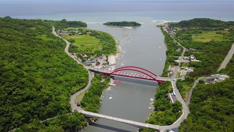 DJI MAVIC 4K Taiwan Aerial Drone Video Hualien Hsiukuluan River Visitor Center 2 Live Action
