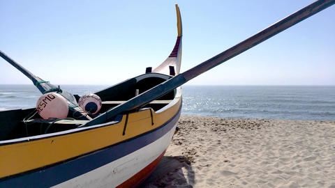 Arte Xavega typical boat Footage