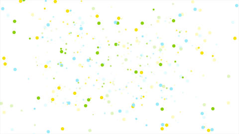 Abstract colorful confetti circles video animation Animation