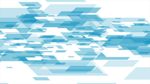 Blue white tech geometric abstract video animation Animation