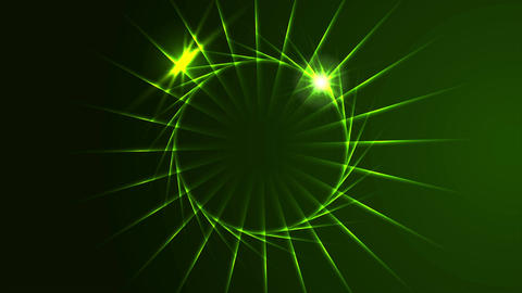 Dark green neon effect rings logo video animation Animation