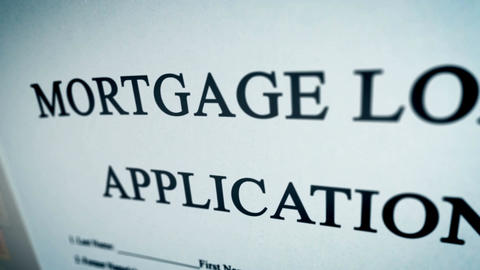 Mortgage Loan Application Form Concept Animation