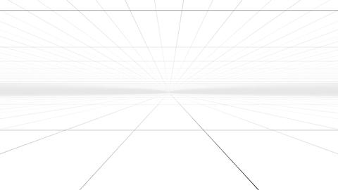Abstract Perspective grid surface with white Animation