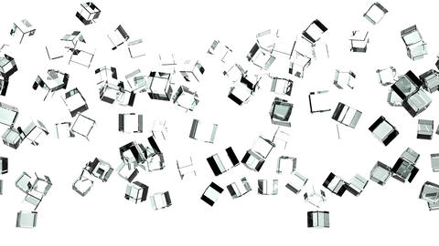 Glass Cubes Abstract On White Background Animation
