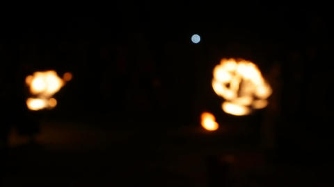 Blurred View, Fire Show Footage