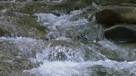 River flow Water surface slow-motion Filmmaterial
