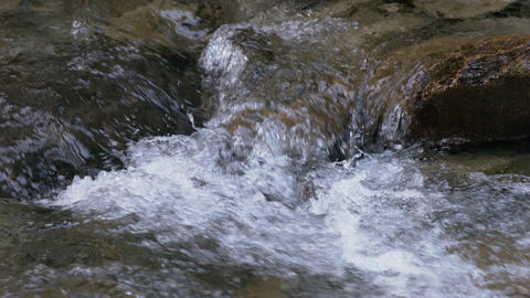 River flow Water surface slow-motion Footage