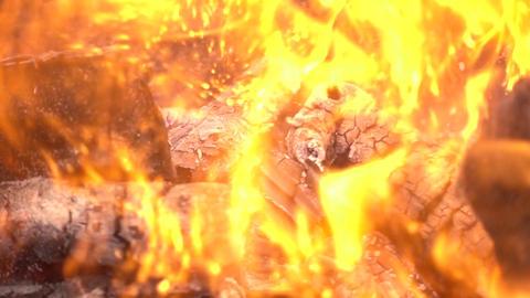 Burning Fire Splash Slow Motion Background Footage