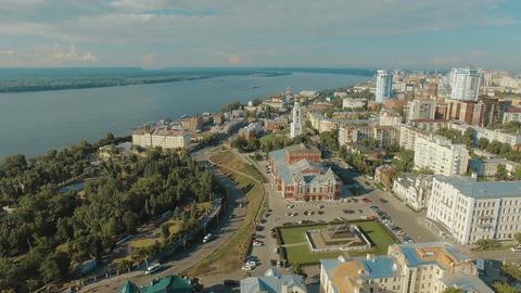 Samara city historical center Footage