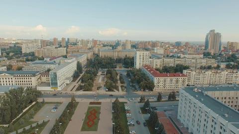 Samara cityscape with Glory Monument Footage