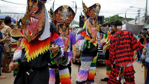 Phi Ta Khon (Ghost Festival), festivals held in Dan Sai, Loei province, Thailand Footage