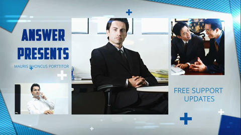 Simple Business Slide After Effects Template