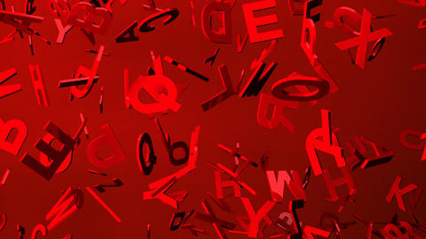 Red Alphabets On Red Background Stock Video Footage