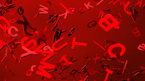 Red Alphabets On Red Background Animation