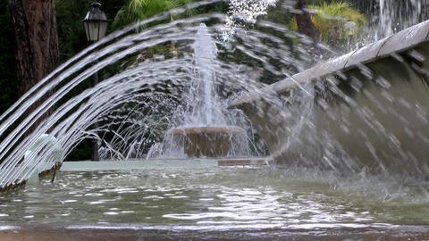 Fountain spouting in Italy, Rome, Tivoli Footage