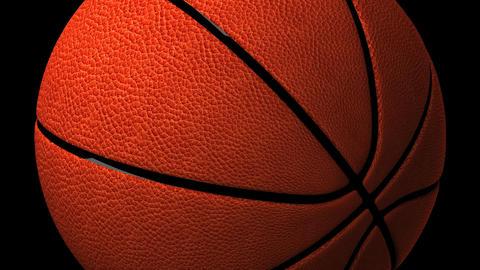 Basket Ball On Black Background Animation