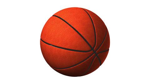 Basket Ball On White Background Animation