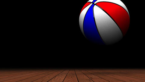 Bouncing Color BasketBall On Wooden Floor CG動画