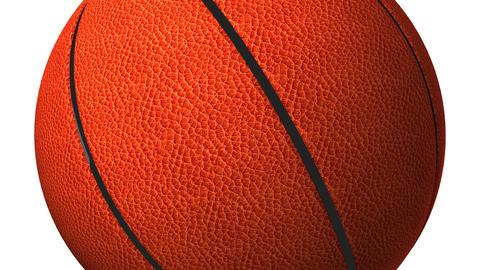 Basket Ball On White Background CG動画