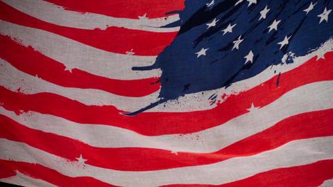 Waving American Flag Footage