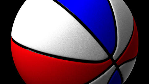 Color Basket Ball On Black Background CG動画