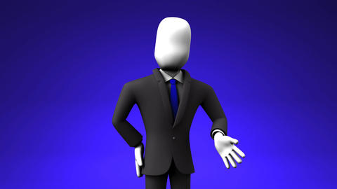 Businessman Who Introduce Information, Stock Animation