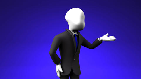 Businessman Who Introduce Information Stock Video Footage