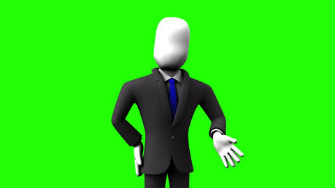 Businessman Who Introduce Information Animation