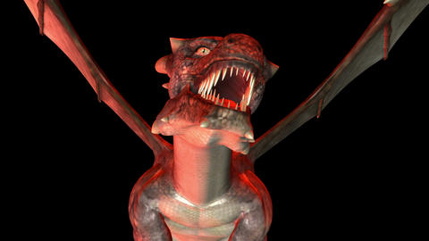 Digital 3D Animation of creepy Dragon CG動画素材