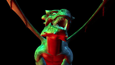Digital 3D Animation of creepy Dragon Animation