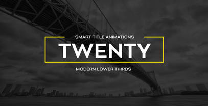 20 Smart Titles After Effects Templates