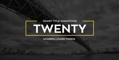 20 Smart Titles Plantilla de After Effects