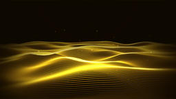 Golden Wave Background Animation