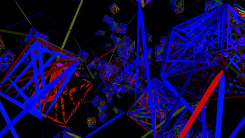Bright cubes 4K 03 Vj Loop Animation