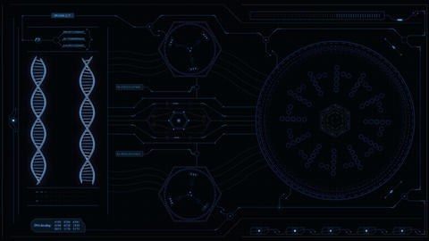 DNA hud panel blue Animation