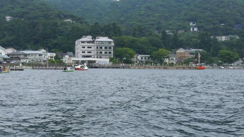 Ashino lake in Hakone Japan Footage