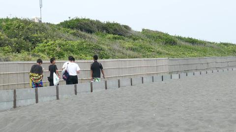 Hiratsuka sea Kanagawa in Japan Filmmaterial