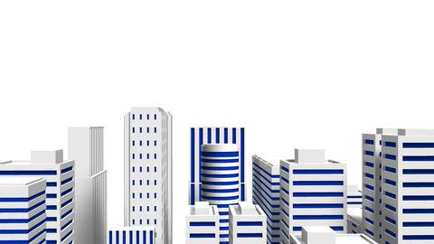 City On White Background, CG動画素材