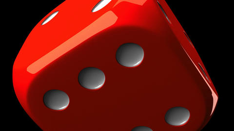 Red Dice On Black Background Stock Video Footage